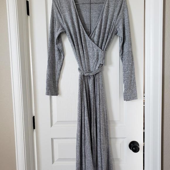 GAP Dresses & Skirts - GAP cascading wrap heathered grey dress